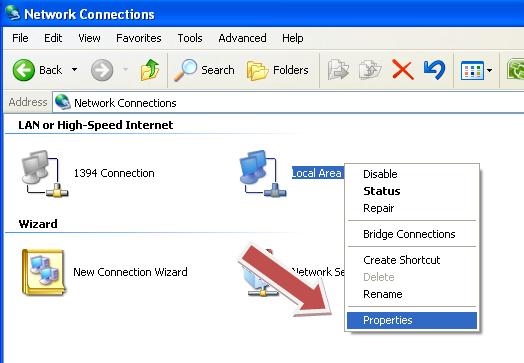 """Pada jendela """" General """", klik dua kali pada Internet Protocol ..."""